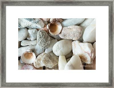 Pebble Stones Framed Print by Michal Boubin