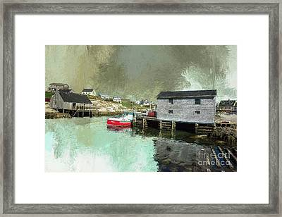 Peggy's Cove Framed Print by Eva Lechner