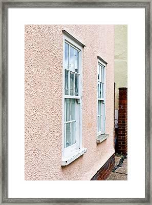 Pink Cottage Framed Print by Tom Gowanlock