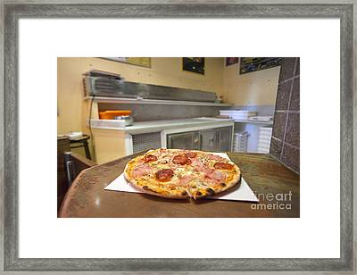 Pizza Framed Print by Andre Goncalves