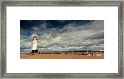 Point Of Ayre Lighthouse Framed Print by Adrian Evans