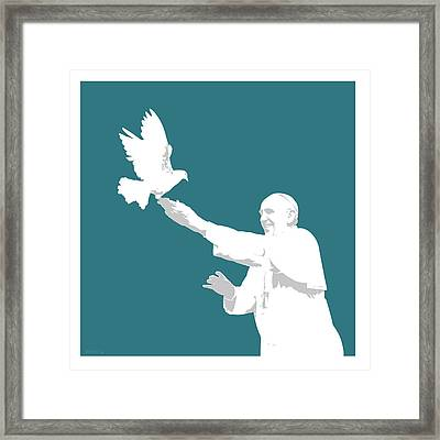 Pope Francis Framed Print by Greg Joens