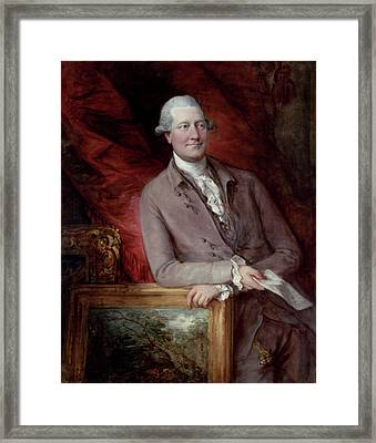 Portrait Of James Christie Framed Print by Thomas Gainsborough
