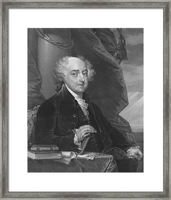 President John Adams Framed Print by War Is Hell Store