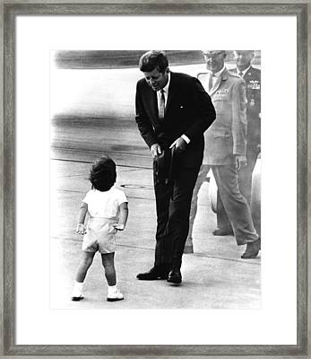 President John F. Kennedy Framed Print by Everett