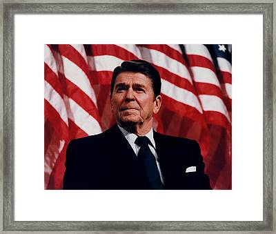 President Ronald Reagan Framed Print by War Is Hell Store