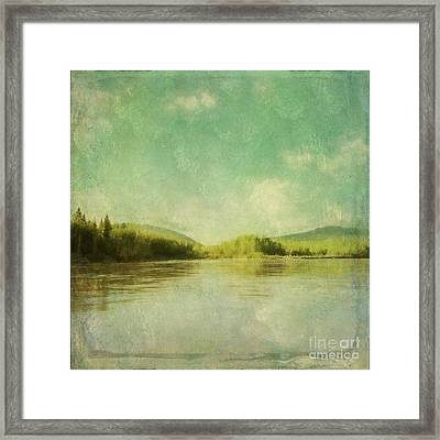 Magic Aurora Night II Framed Print by Priska Wettstein