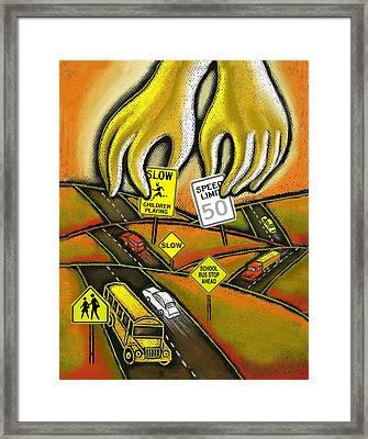 Prevention Framed Print by Leon Zernitsky
