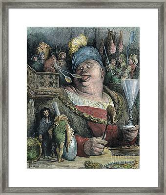 Rabelais: Gargantua, 1873 Framed Print by Granger