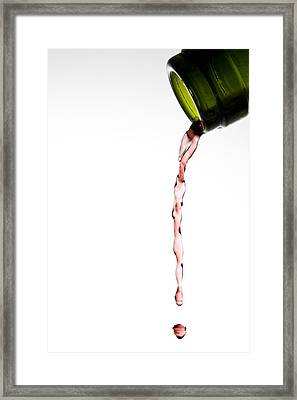 Red Wine Framed Print by Frank Tschakert