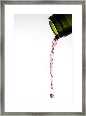 Red Wine Framed Print by Frank Tschakert