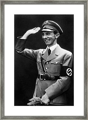 Reich Minister For Public Enlightenment Framed Print by Everett