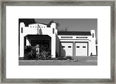 Restored Vintage Sinclair Gas Station Framed Print by Mountain Dreams