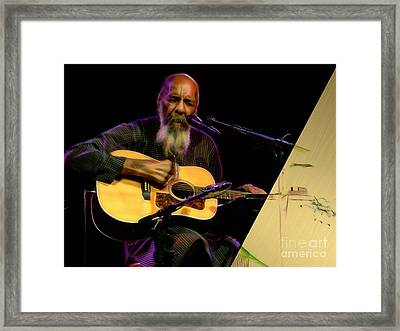 Richie Havens Collection Framed Print by Marvin Blaine
