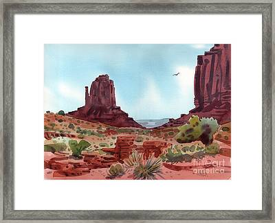Right Mitten Framed Print by Donald Maier