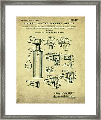 Rolex Watch Patent 1999 In Red Framed Print by Bill Cannon