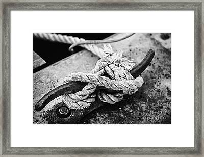 Rope On Cleat Framed Print by Elena Elisseeva