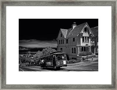 San Francisco Cable Car Framed Print by Mountain Dreams