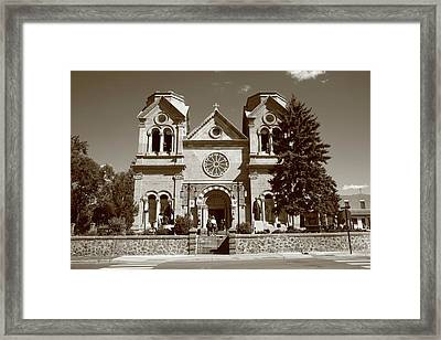 Santa Fe - Basilica Of St. Francis Of Assisi Framed Print by Frank Romeo