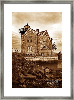 Saugerties Lighthouse Ny Framed Print by Skip Willits