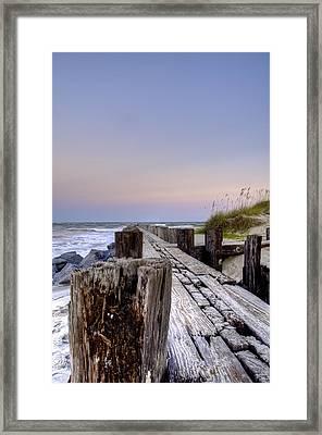 Seawall  Framed Print by Drew Castelhano