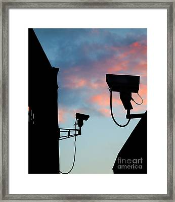 Security Camera Framed Print by Shaun Wilkinson