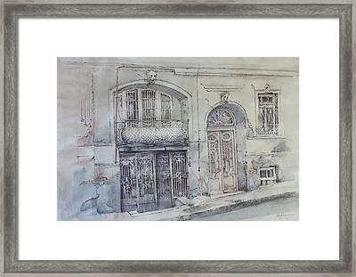 Sh. Kavlashvili Str. Framed Print by Anastasia Logvinenko