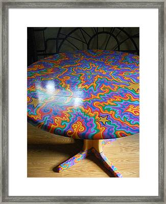 Sharpie Star Table Framed Print by Mandy Shupp