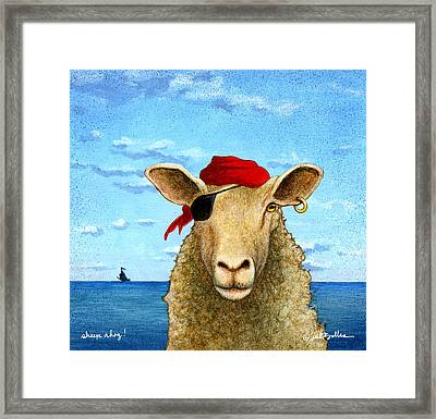 Sheep Ahoy Framed Print by Will Bullas