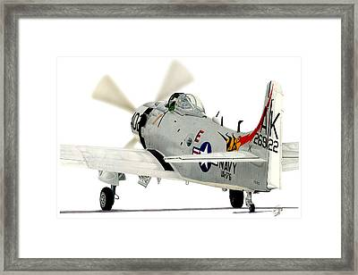 Skyraider Framed Print by Lyle Brown