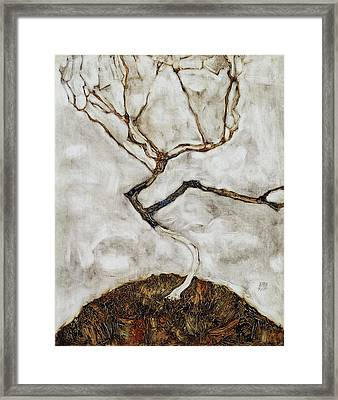 Small Tree In Late Autumn Framed Print by Egon Schiele