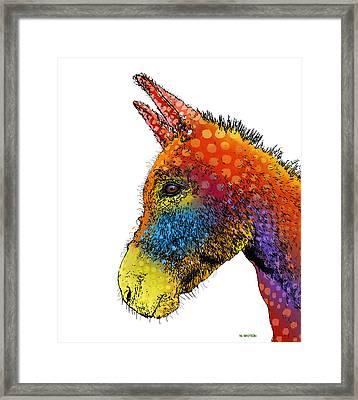 Spotted Donkey Framed Print by Marlene Watson