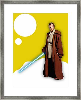 Star Wars Obi Wan Kenobi Collection Framed Print by Marvin Blaine