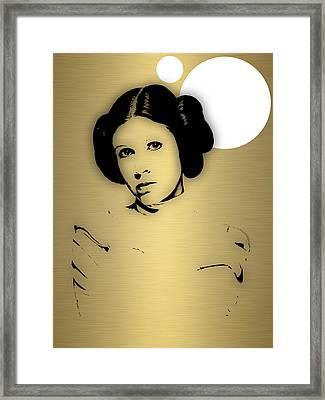 Star Wars Princess Leia Collection Framed Print by Marvin Blaine