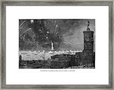 Statue Of Liberty, 1886 Framed Print by Granger
