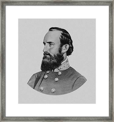 Stonewall Jackson Framed Print by War Is Hell Store