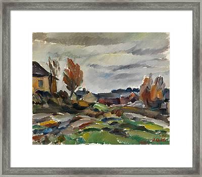 Storm  Framed Print by Ilmari Aalto