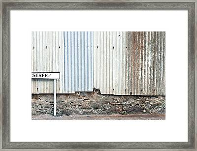 Street Sign Framed Print by Tom Gowanlock