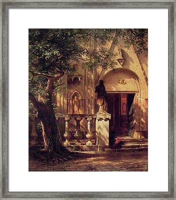 Sunlight And Shadow Framed Print by Albert Bierstadt