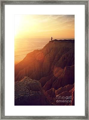 Sunset Beach Framed Print by Carlos Caetano