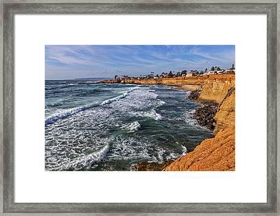 Sunset Cliffs 2 Framed Print by Peter Tellone