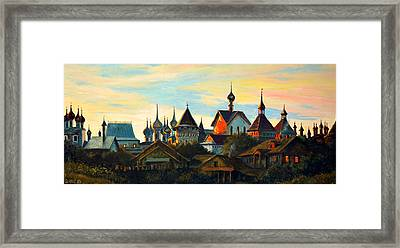 Sunset In Rostov Framed Print by Henryk Gorecki