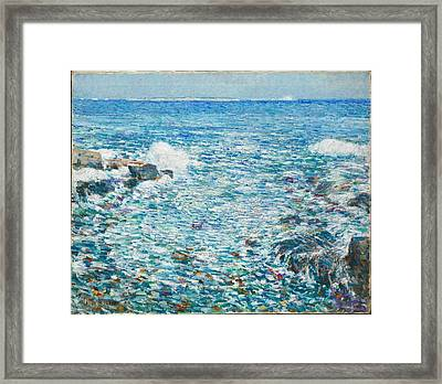 Surf, Isles Of Shoals Framed Print by Childe Hassam
