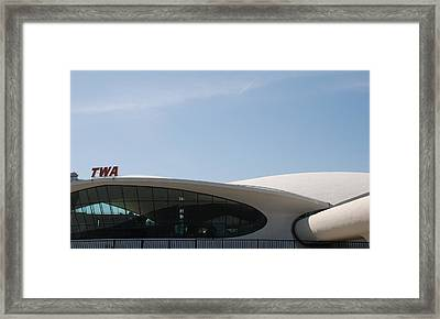 T W A Terminal Framed Print by Rob Hans