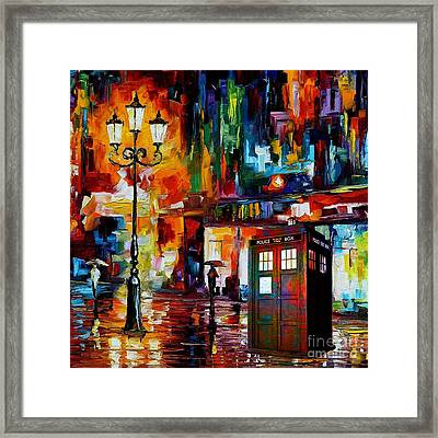 Tardis Art Painting Framed Print by Koko Priyanto