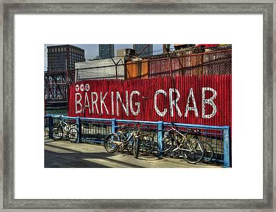 The Barking Crab - Boston Framed Print by Joann Vitali
