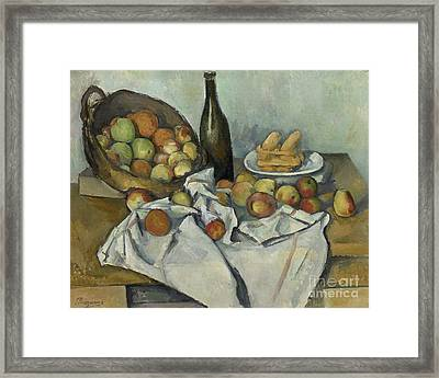 The Basket Of Apples, Framed Print by Paul Cezanne