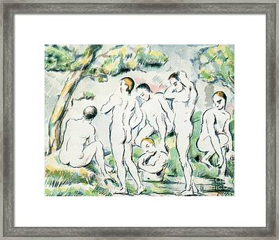 The Bathers Framed Print by Paul Cezanne