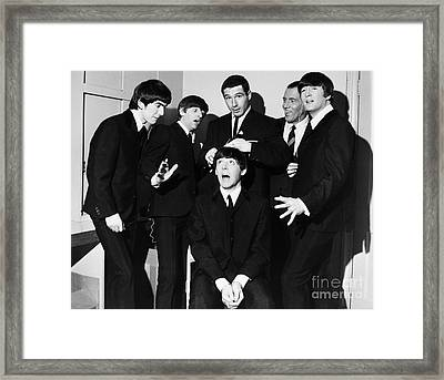The Beatles, 1964 Framed Print by Granger