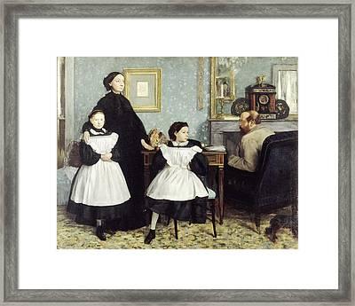 The Bellelli Family Framed Print by Edgar Degas